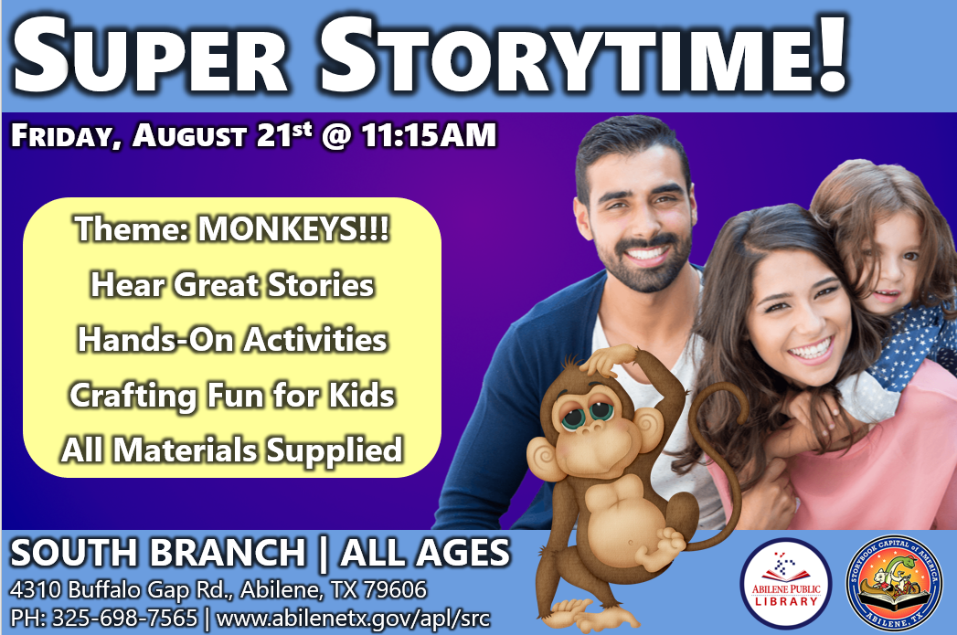 Super Storytime - Monkeys Infographic