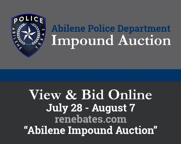 APD Impound Auction June 29 - August 7 renebates.com