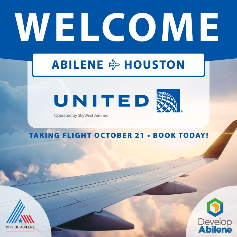 United announces beginning of flights between Abilene Regional Airport and Houston October 21, 2020