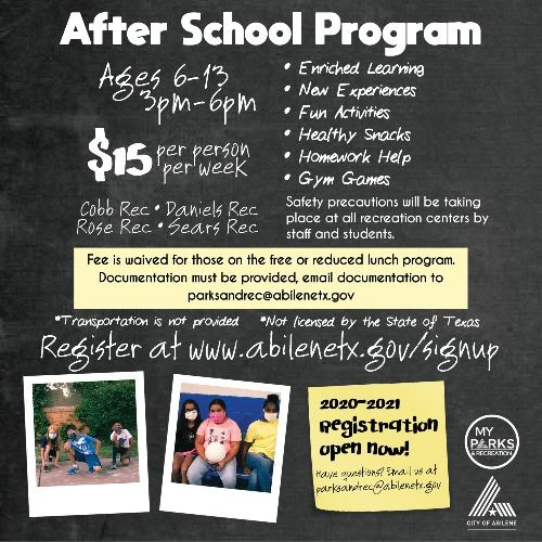 After School Program 2020-2021 SM