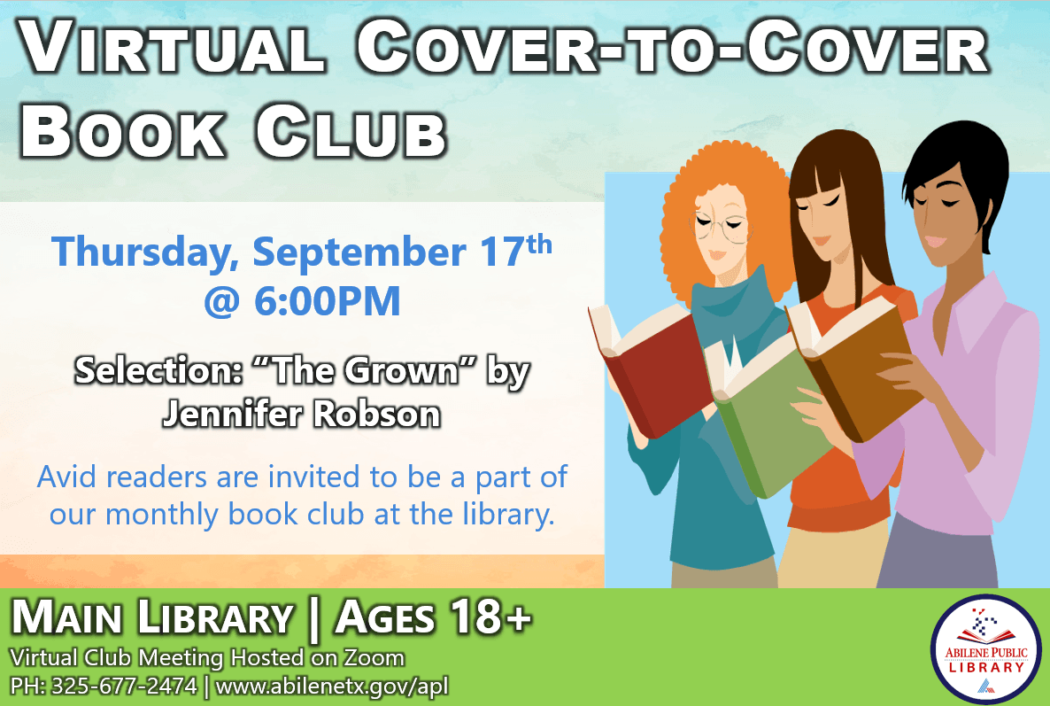 Cover to Cover Book Club Infographic