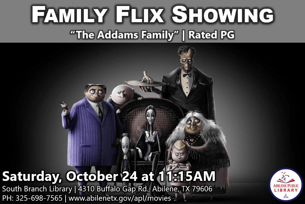 Family Flix Showing The Addams Family Infographic