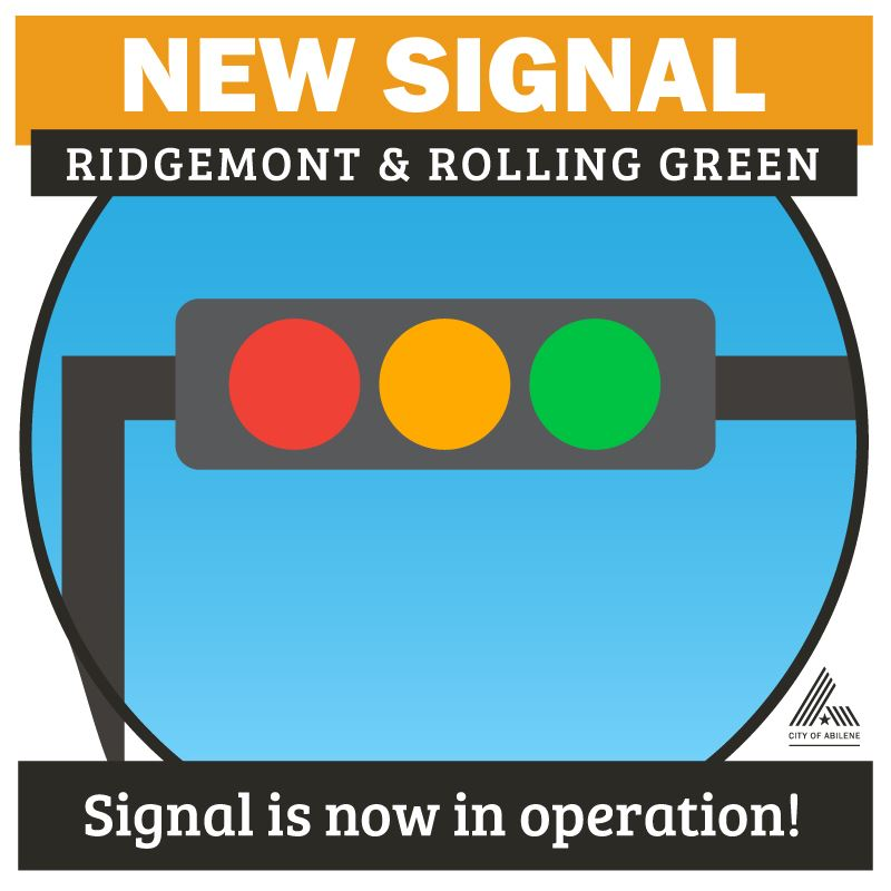 New Traffic Signal - Ridgemont & Rolling Green