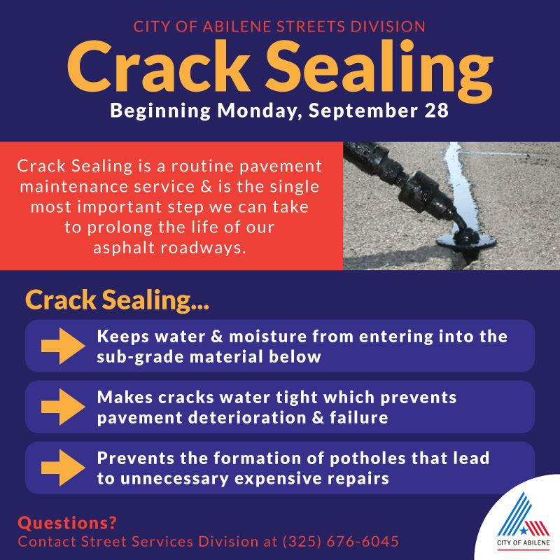 Benefits and purpose of public works crack sealing program