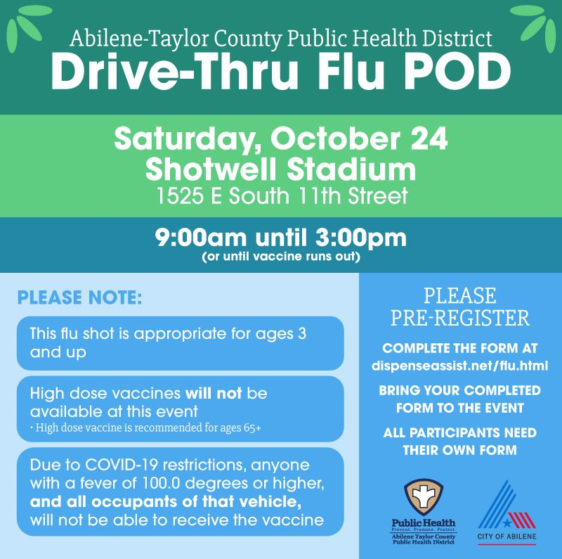 Registration now open for drive-thru flu vaccination at Shotwell Stadium October 24
