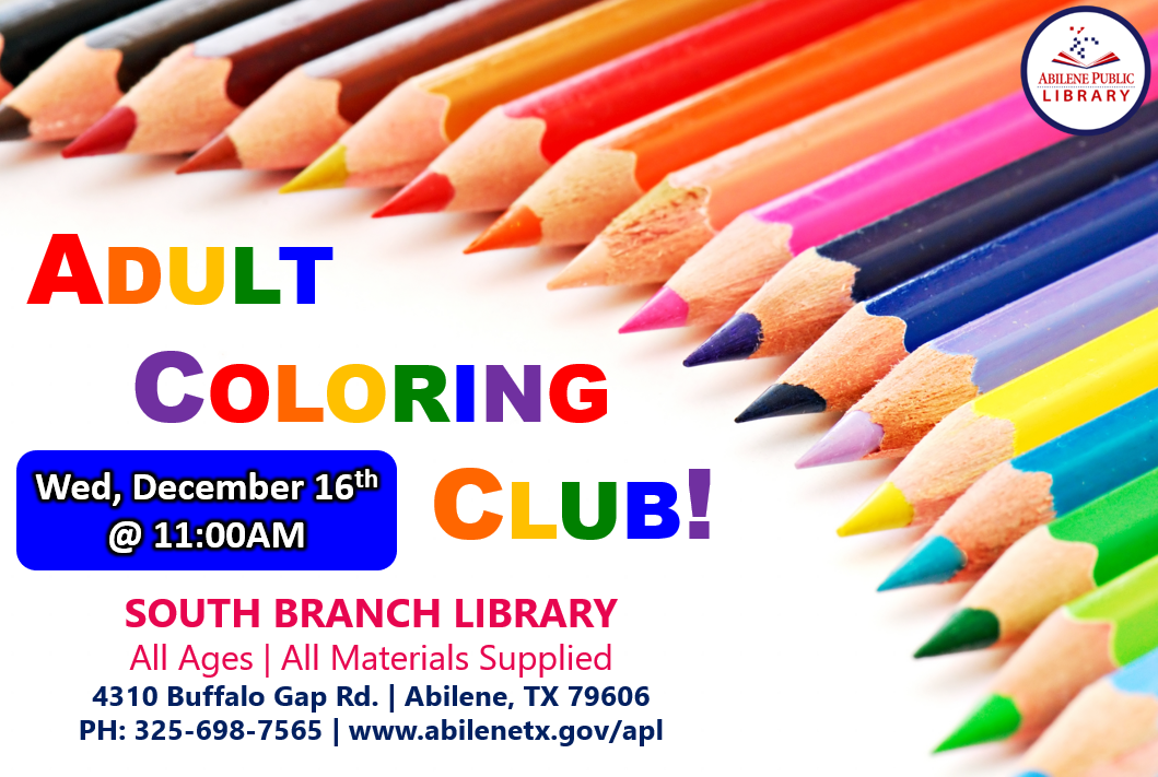 12-16 Coloring Club