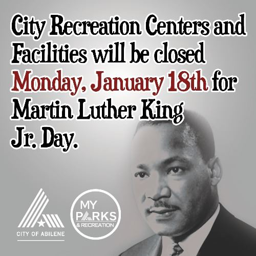 Closed on Martin Luther King Jr. Day