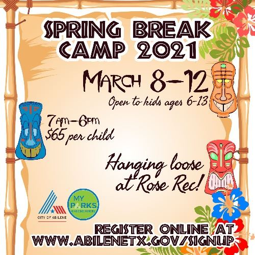 Spring Break Camp 2021 Abilene, Texas