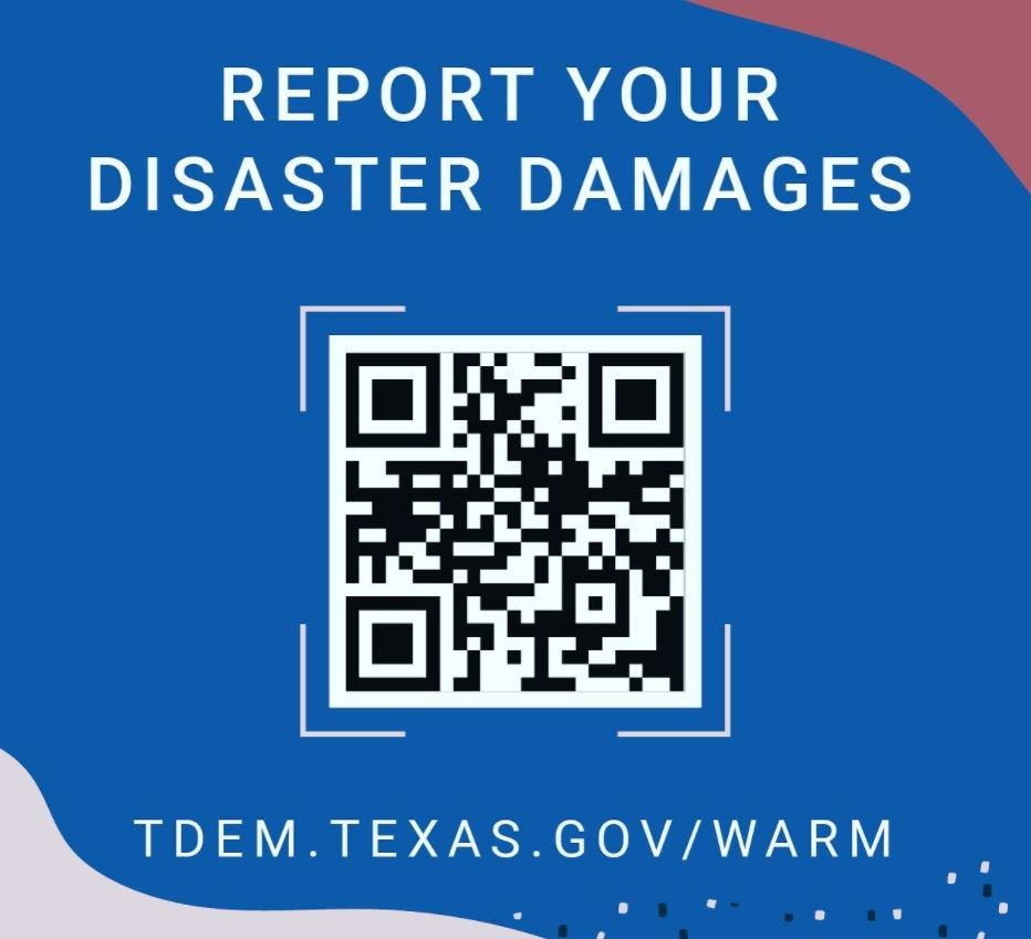 TDEM QR CODE to report damages from deep freeze of 2021