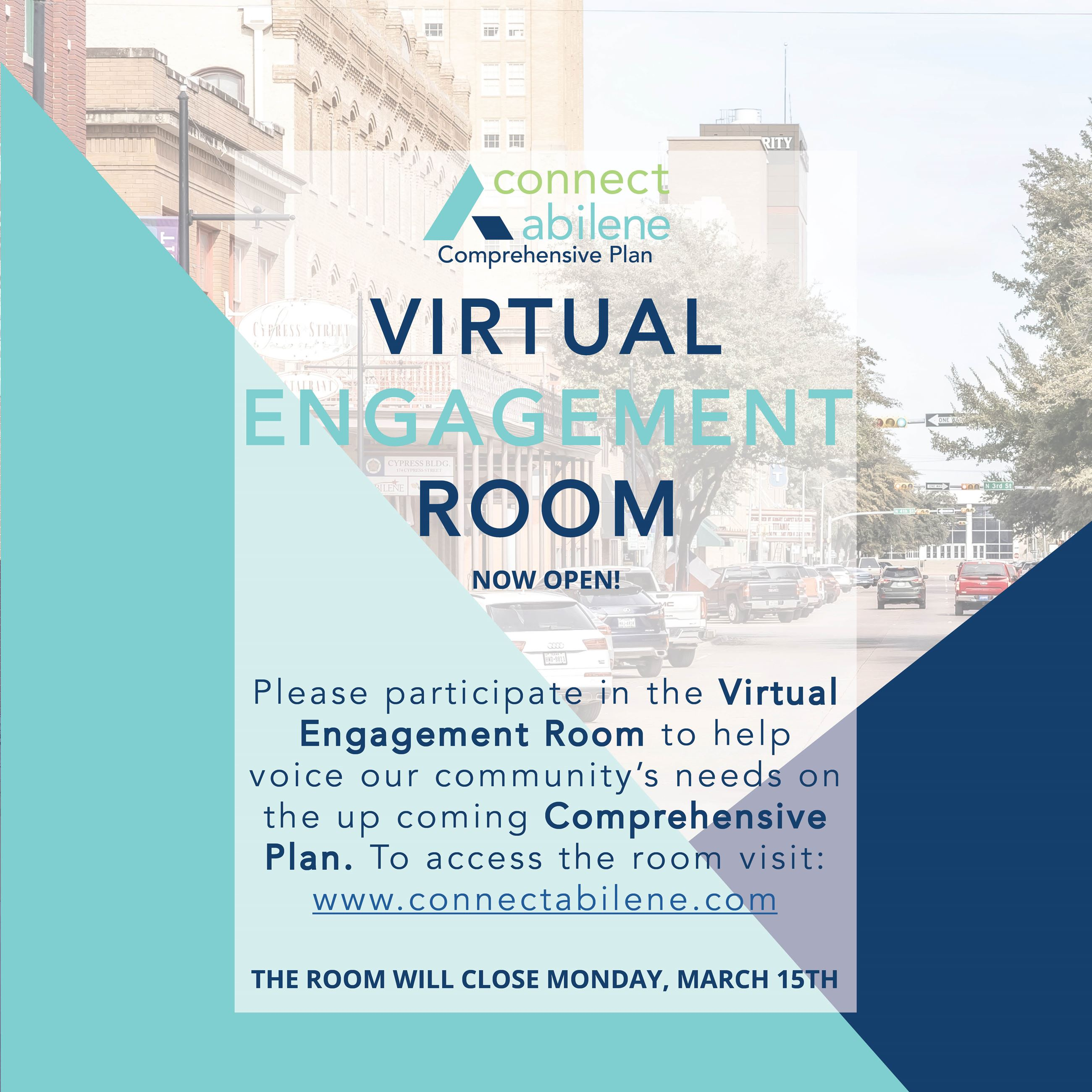 Virtual Engagement Room Open Through Monday March 15th