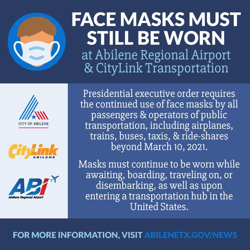 Presidential order requires continued use of face masks at airport and CityLink