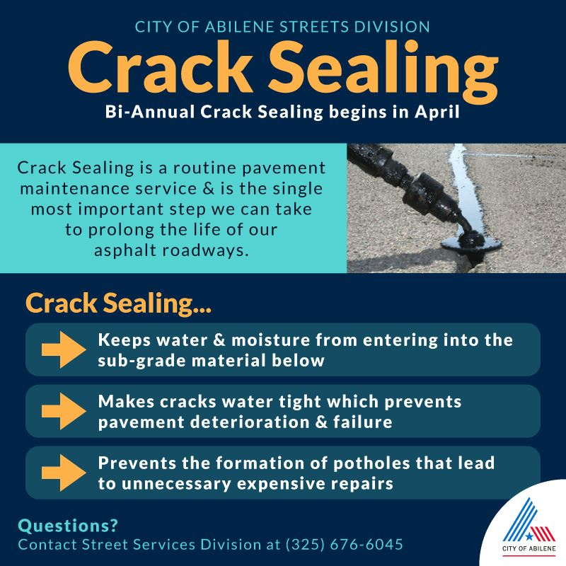 crack sealing begins in april 2021
