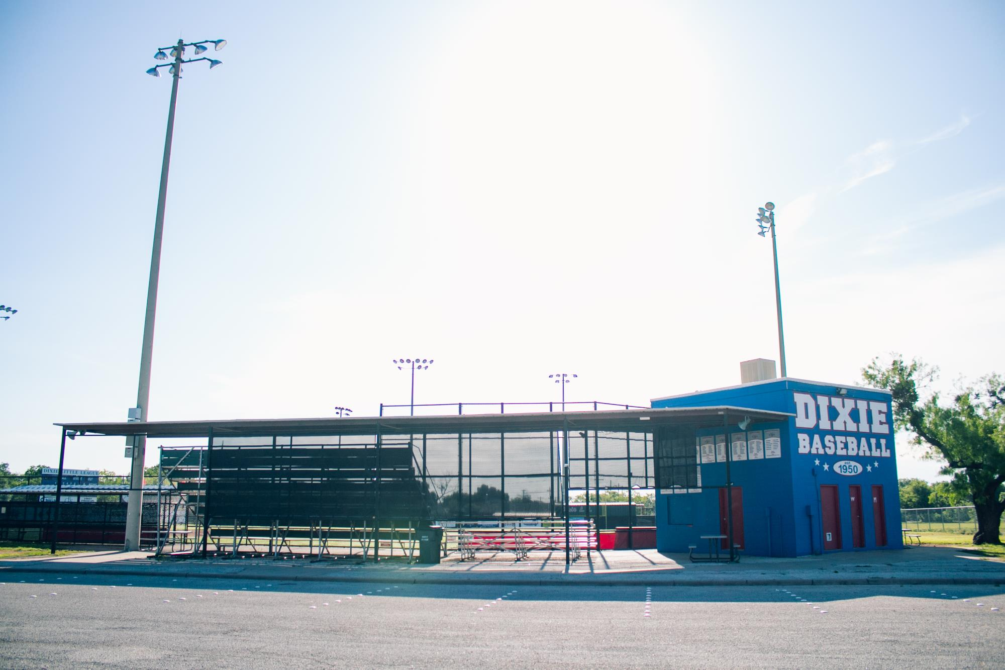 Dixie Baseball Building Next to Ballfield