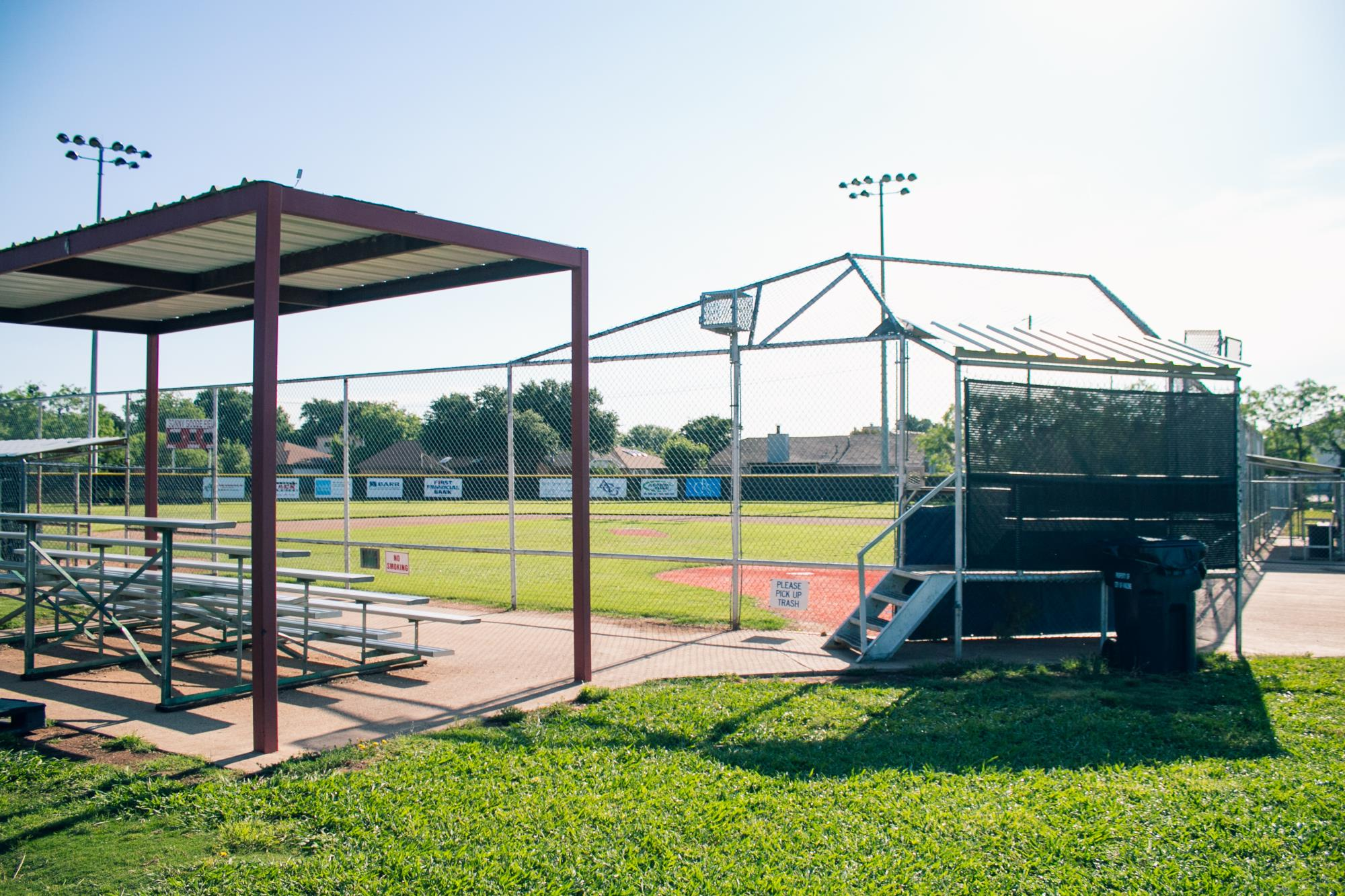 Leftside Bleachers Next to Ballfield