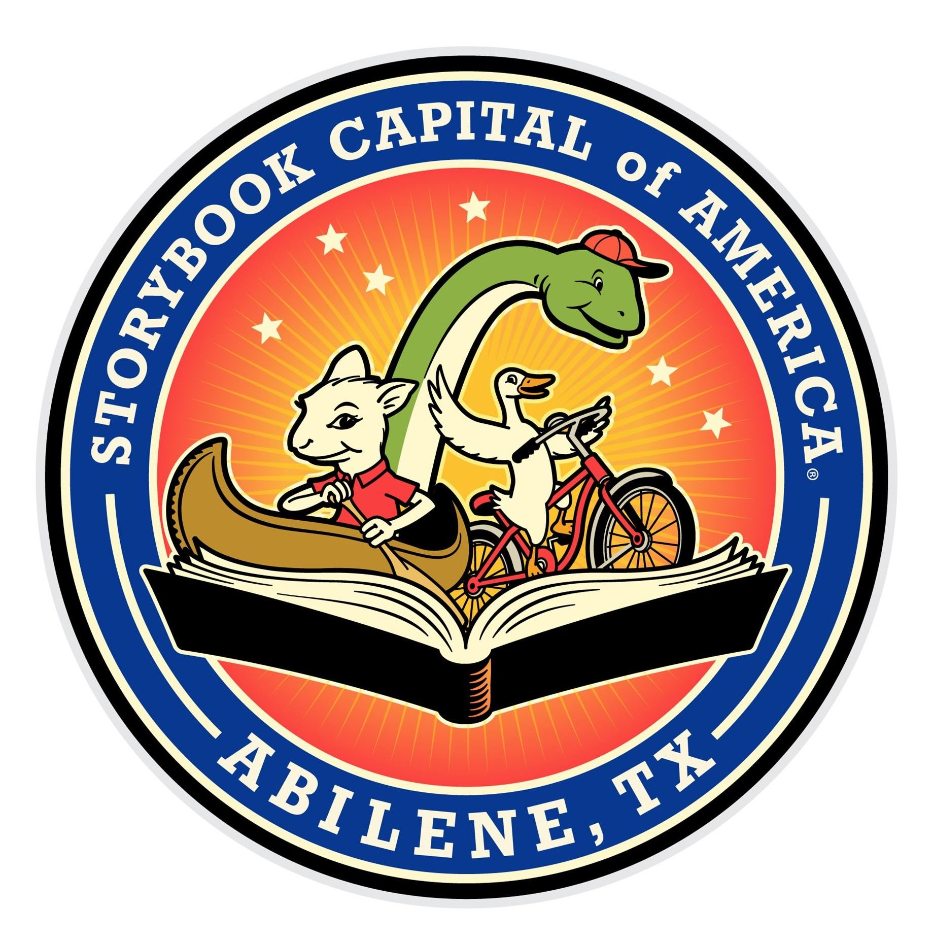 Graphic design image of logo for Storybook Capital of America