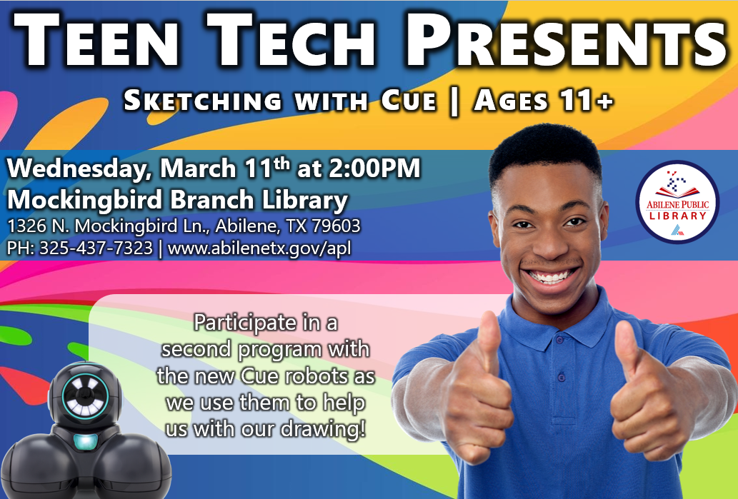 03-11 Teen Tech - Sketching with Cue
