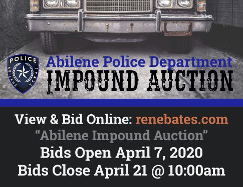 APD Impound Auction April 7 - April 21
