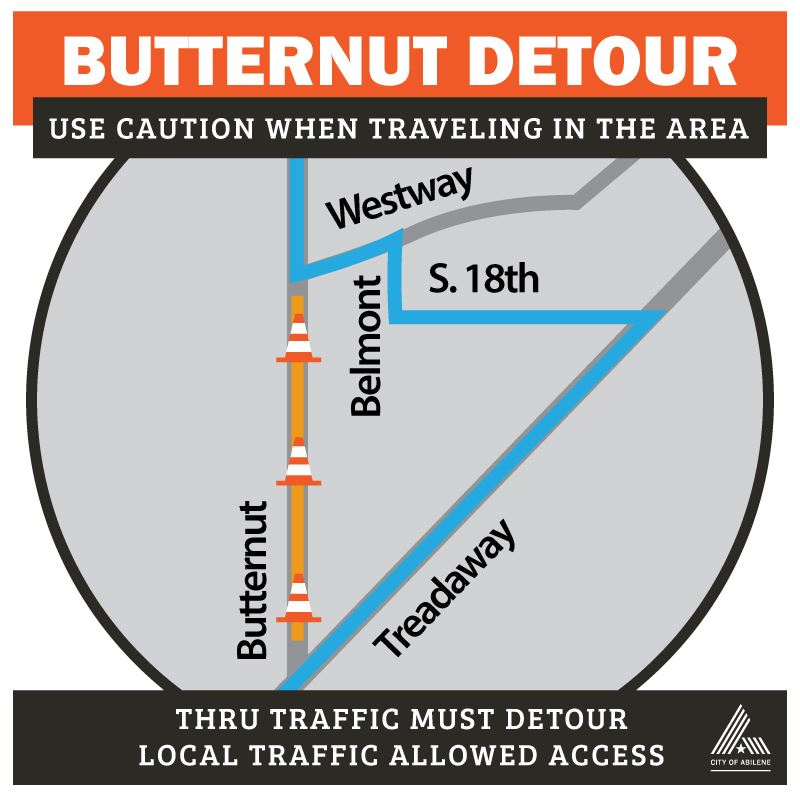 Butternut Repairs May 26 Detour