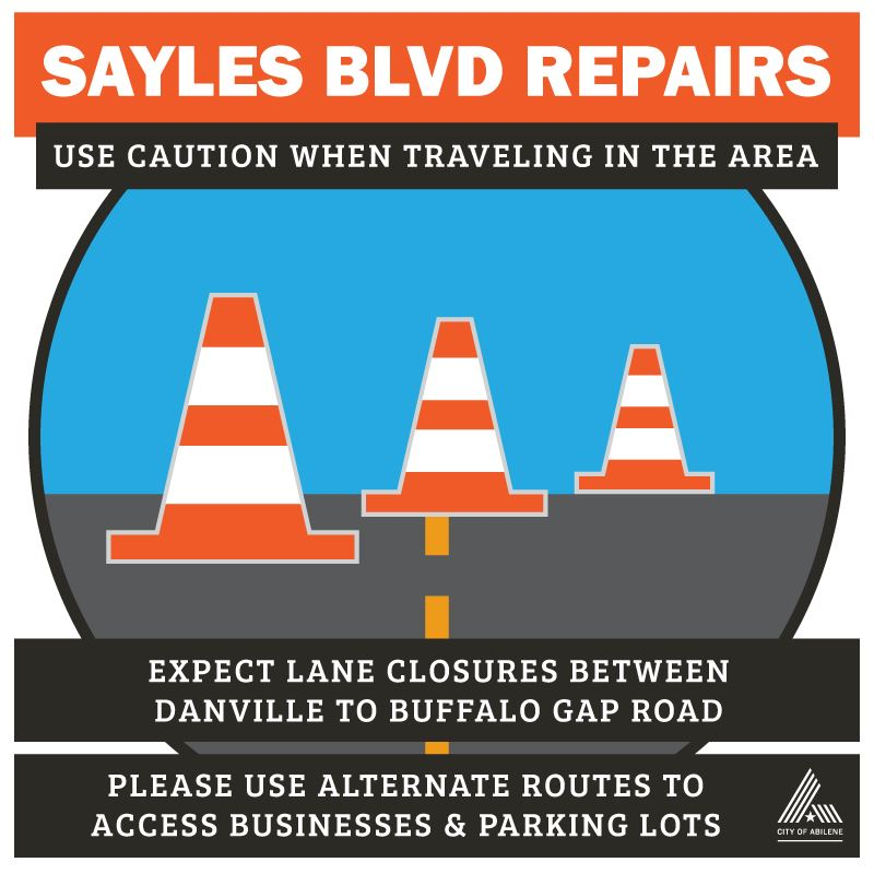 Sayles Blvd Repair begins June 15 - Use Alternate Routes