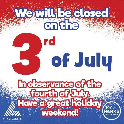 Closed the 3rd of July SM