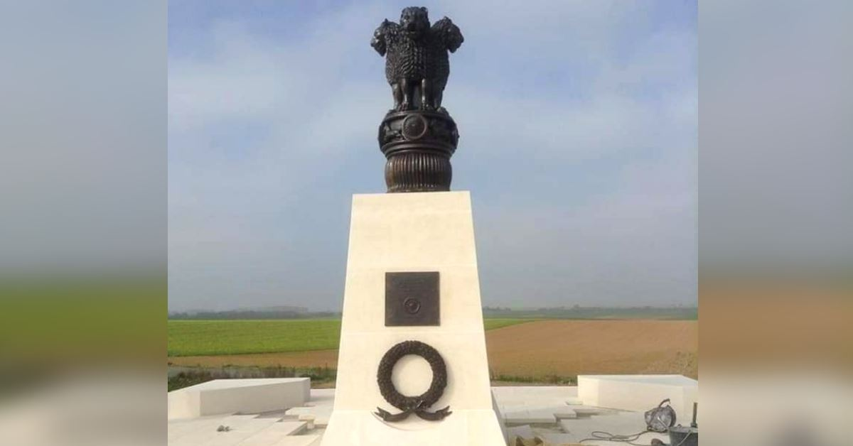 Villers-Guislain-a-town-in-France-with-an-Indian-Army-war-memorial.