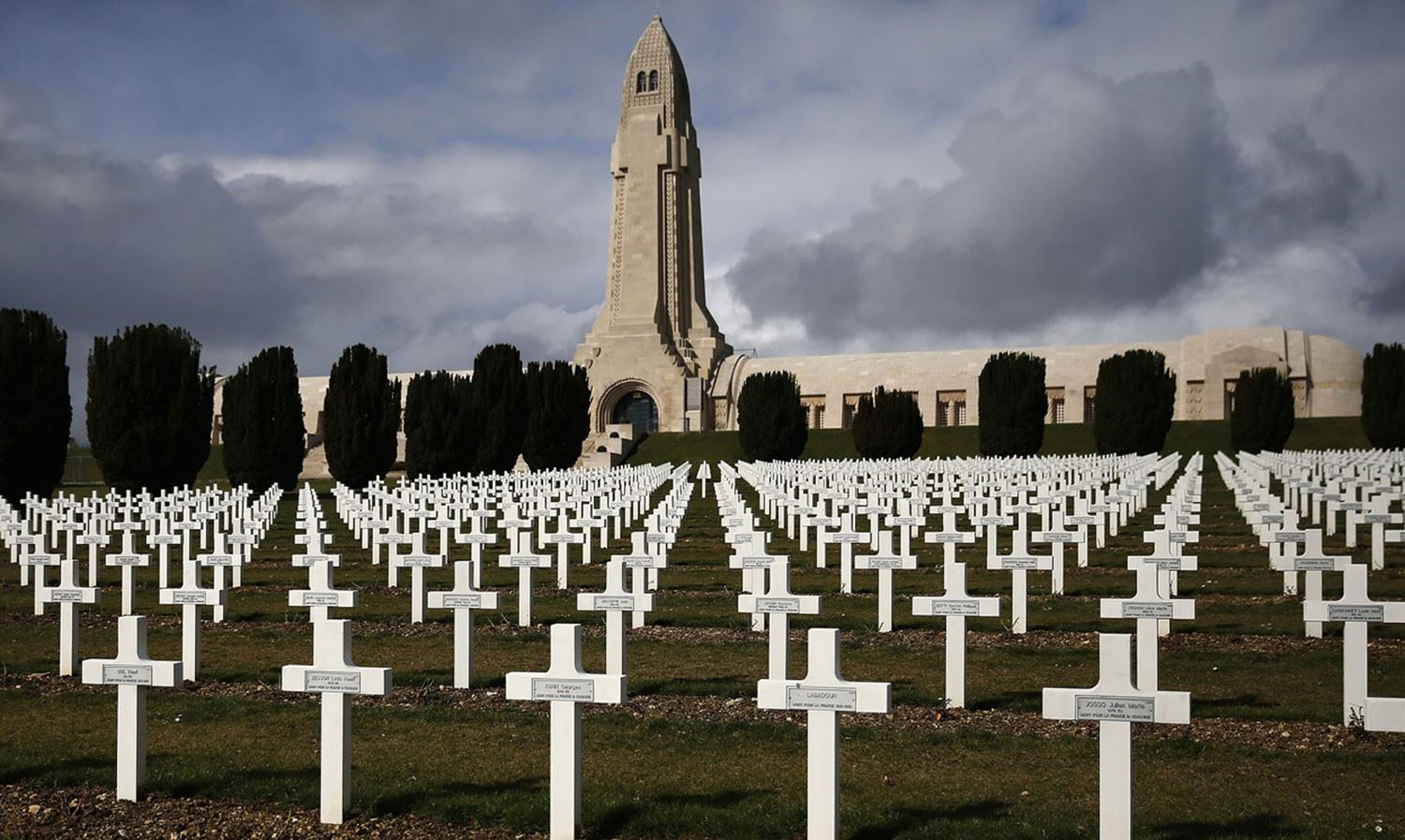 Verdun with crosses
