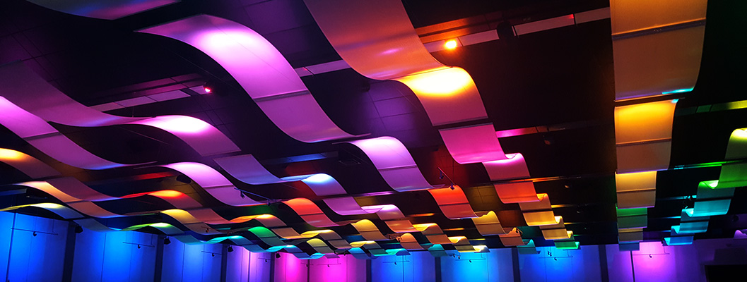 Colorful Lighting in the Convention Center