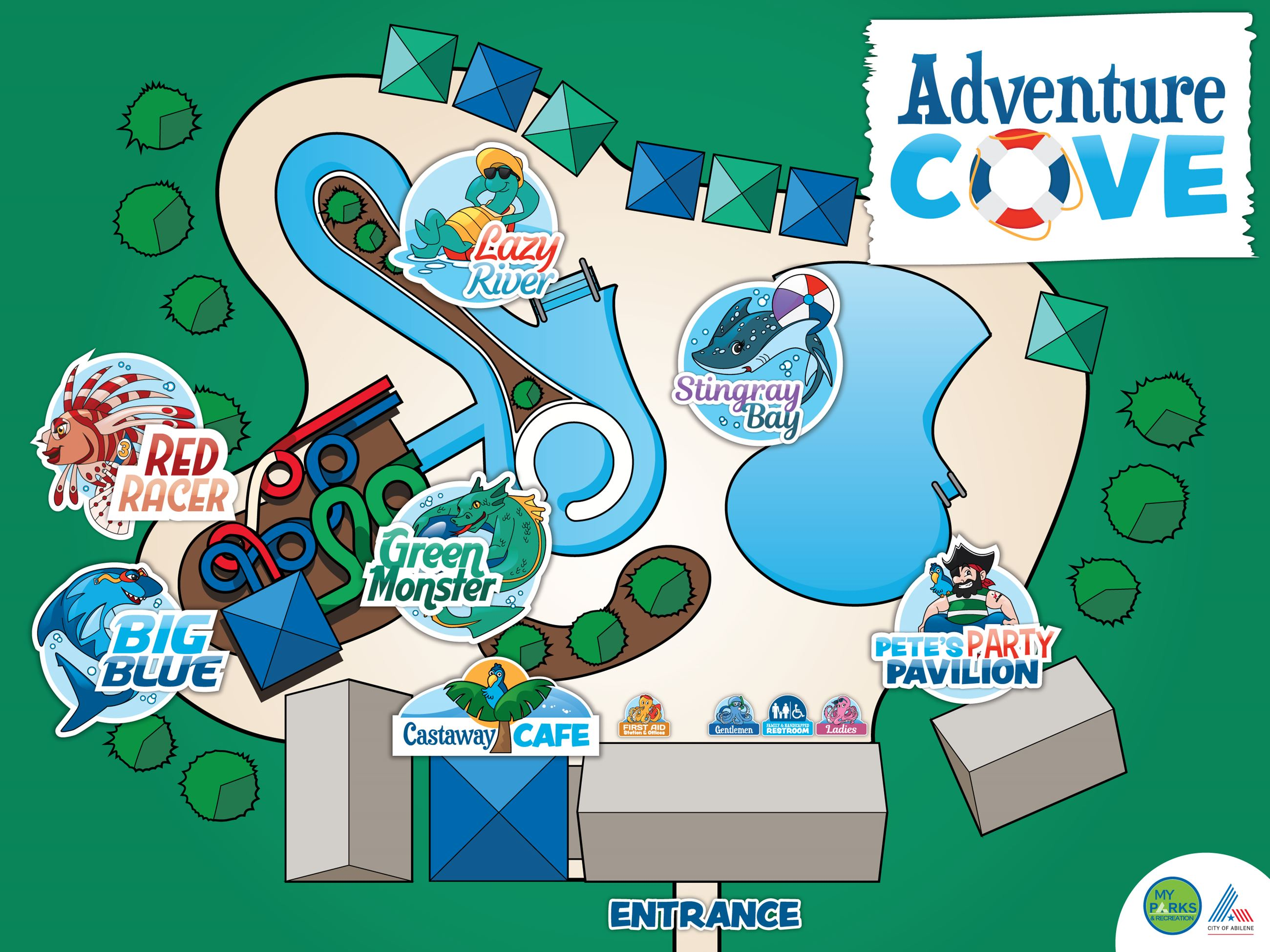 Adventure Cove Map Opens in new window