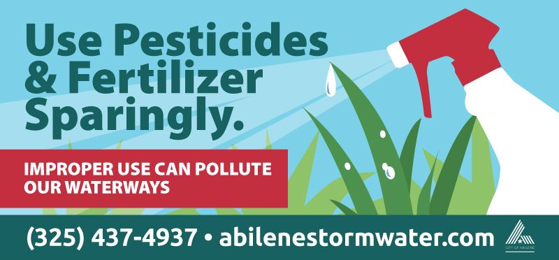 Use Pesticides and Fertilizer Sparingly
