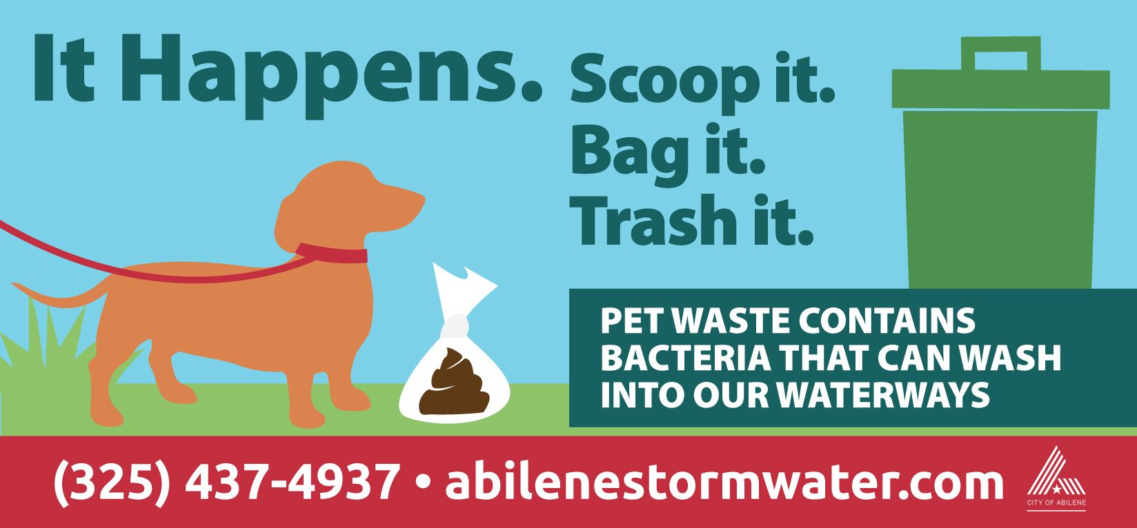 Pet Waste Contains Bacteria That Can Wash into Our Waterways