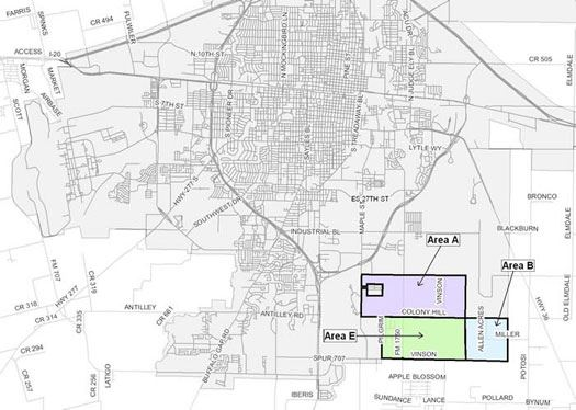 Three-Year Annexation Plan Areas Map