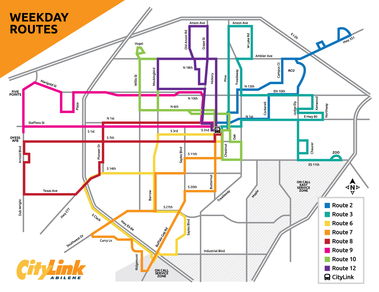 Weekday Routes