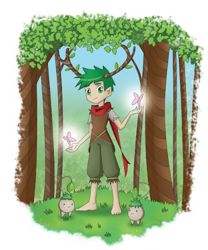 Lib-Con Sprite Forest with a Transparent Background