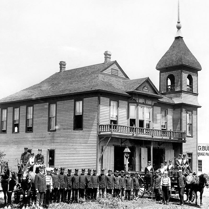Historic Photograph of Fire House One
