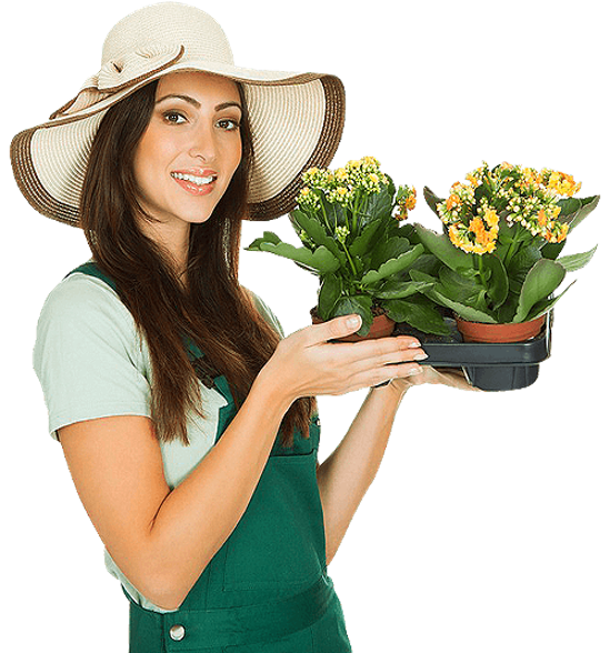 Lady with Flowers to Plant