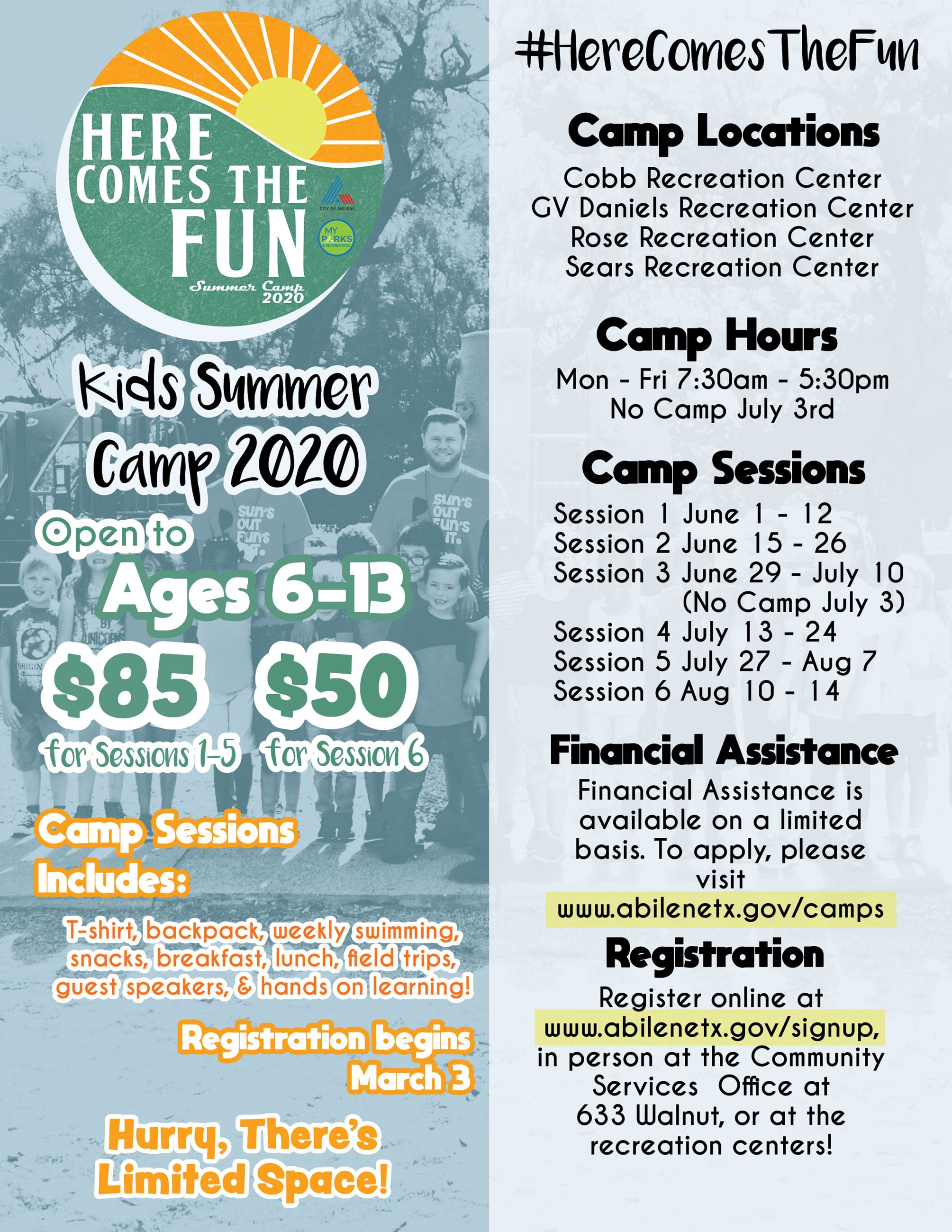 Summer Camp 2020 Info Flyer