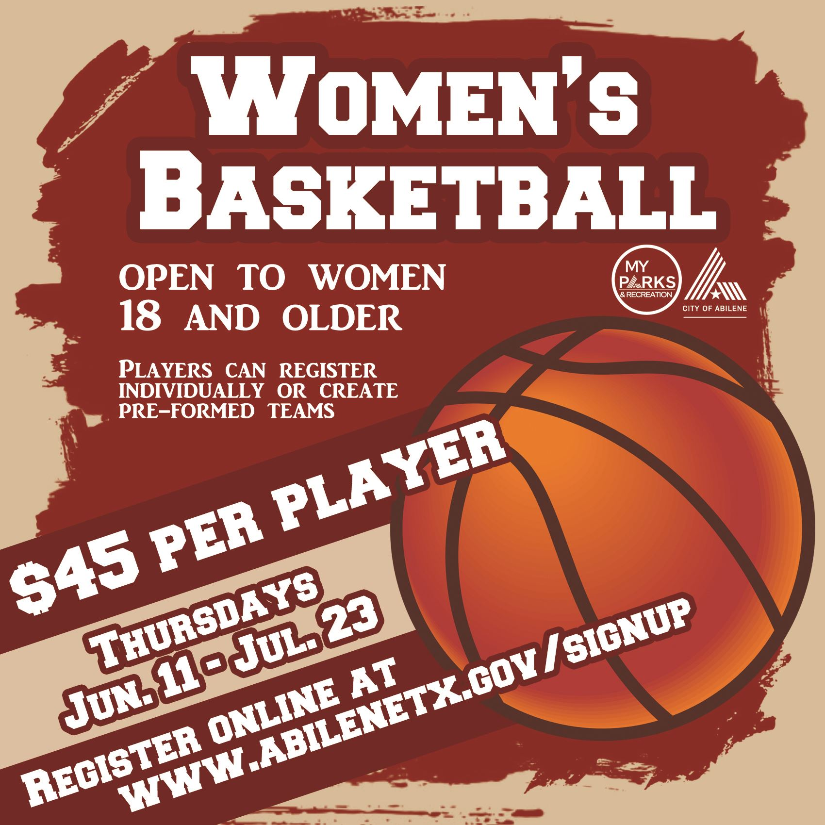Adult Women Summer Basketball updated age